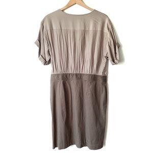 LOFT Dresses - Loft Ann Taylor Tan Khaki Short Sleeve Dress